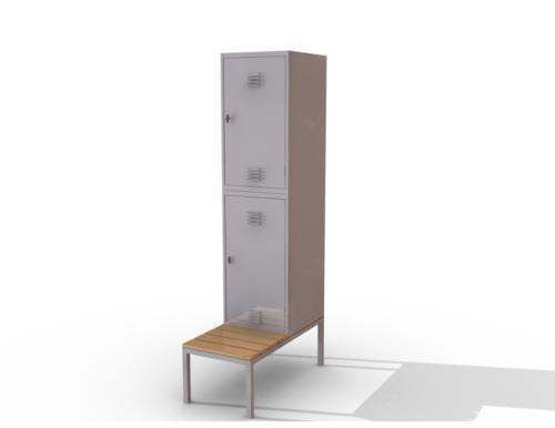 Locker with bench